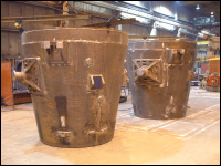 Steel Foundry Large Ladles
