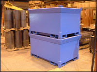 Custom Fabricated Tote Boxes Blue